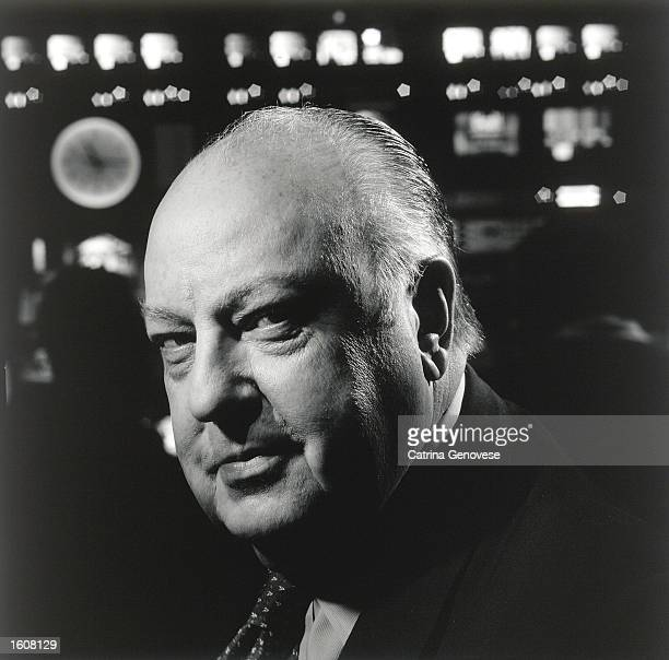 Roger Ailes Chairman and CEO of the FOX News Channel poses for a portrait May 1 2001 in a control room of the station in New York City Ailes a former...