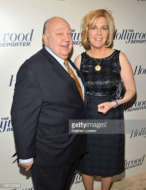 Roger Ailes President of Fox News Channel and Elizabeth Tilson Ailes attend the Hollywood Reporter celebration of The 35 Most Powerful People in...