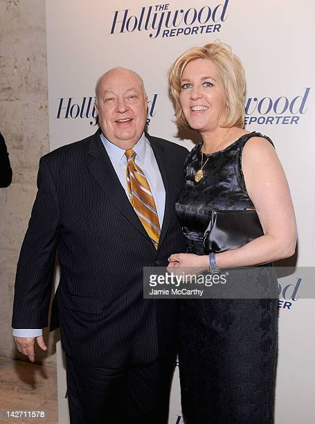 Roger Ailes President of Fox News Channel and Elizabeth Tilson Ailes attend the Hollywood Reporter celebrates The 35 Most Powerful People in Media at...
