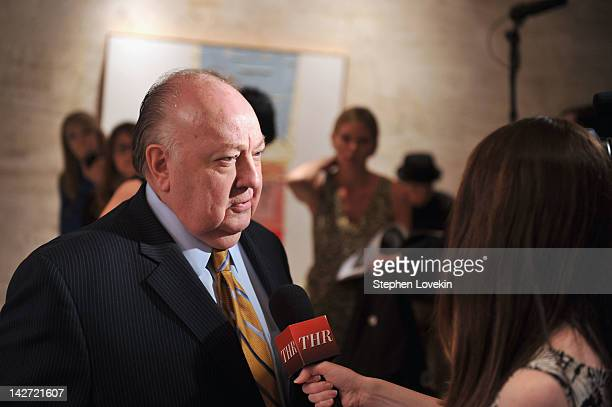 Roger Ailes President of Fox News Channel attends the Hollywood Reporter celebration of 'The 35 Most Powerful People in Media' at the Four Season...