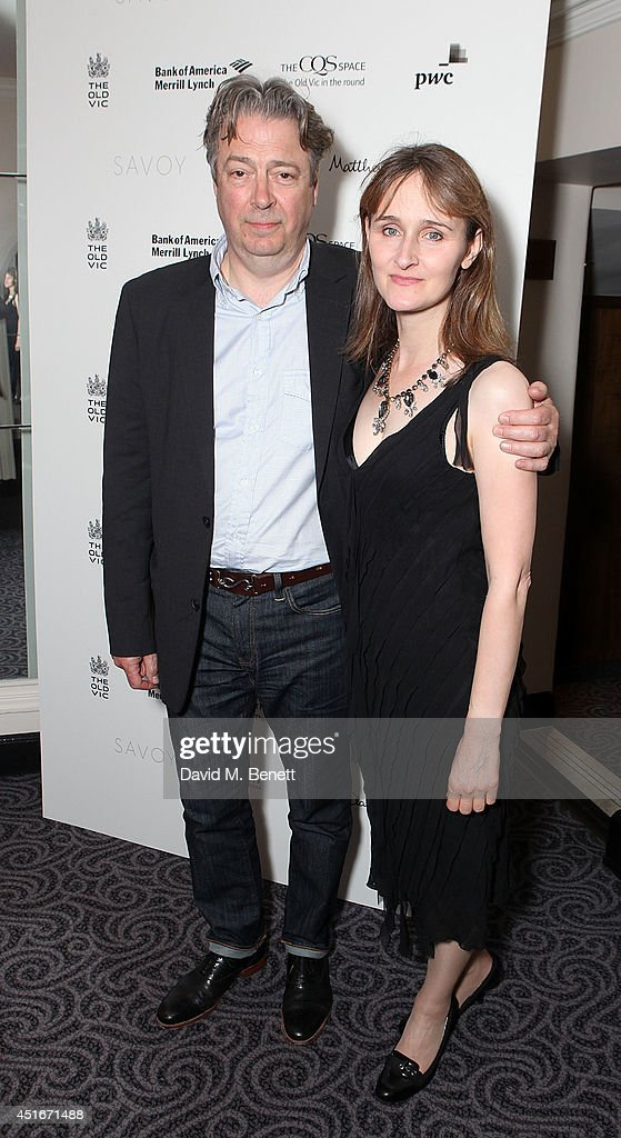 Roger Allam and Rebecca Saire attend an after party following the press night performance of 'The Crucible' at The Savoy Hotel on July 3, 2014 in London, England.