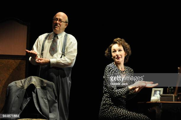 Roger Allam as John Christie and Nancy Carroll as Audrey Mildmay in David Hare's The Moderate Soprano directed by Jeremy Herrin at the Duke Of York's...