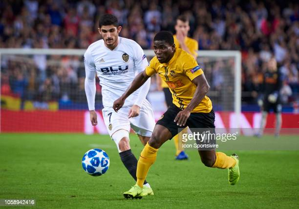 Roger Assale forward of BSC Young Boys in action during the UEFA Champions League group stage H football match between Valencia CF and BSC Young Boys...