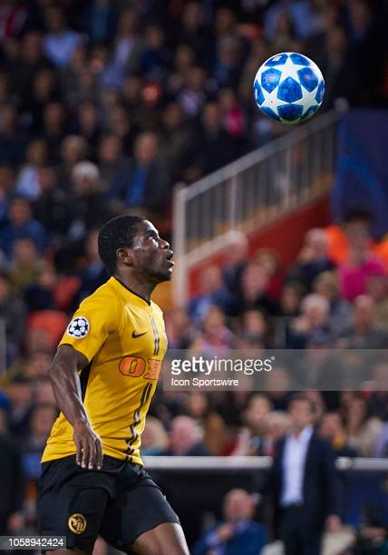 Roger Assale forward of BSC Young Boys look the ball during the UEFA Champions League group stage H football match between Valencia CF and BSC Young...