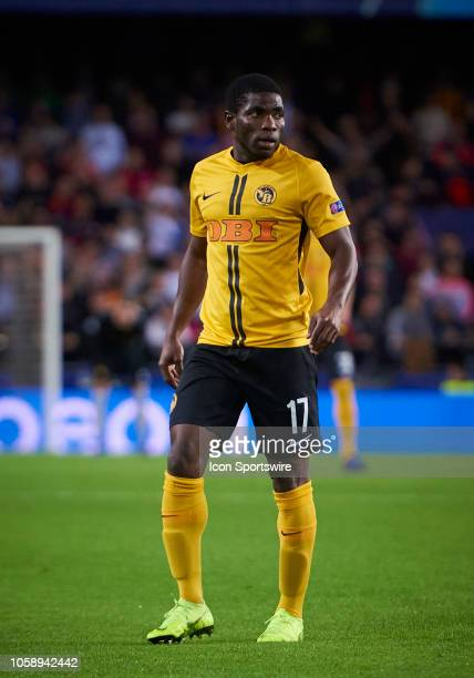 Roger Assale forward of BSC Young Boys looks during the UEFA Champions League group stage H football match between Valencia CF and BSC Young Boys at...