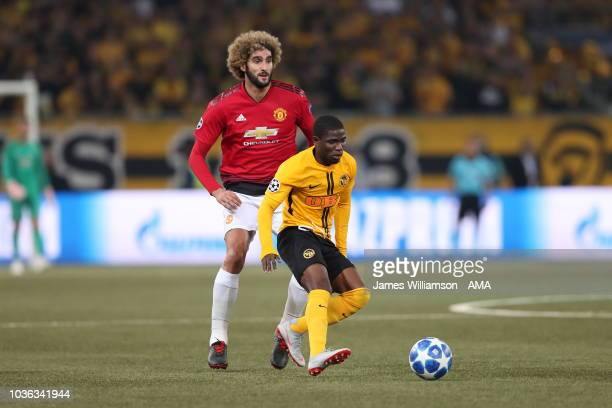 Roger Assale of BSC Young Boys during the Group H match of the UEFA Champions League between BSC Young Boys and Manchester United at Stade de Suisse...