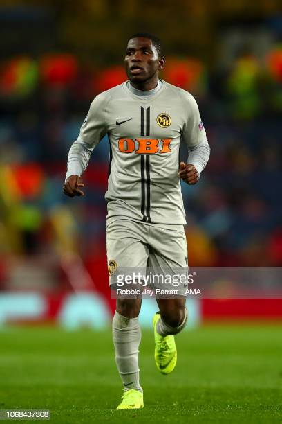 Roger Assale of BSC Young Boys during the Group H match of the UEFA Champions League between Manchester United and BSC Young Boys at Old Trafford on...