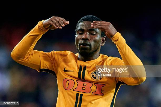 Roger Assale of BSC Young Boys reacts during the Group H match of the UEFA Champions League between Valencia and BSC Young Boys at Estadio Mestalla...