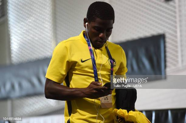 Roger Assale of Young Boys arrives before the Group H match of the UEFA Champions League between Juventus and BSC Young Boys at Allianz Stadium on...