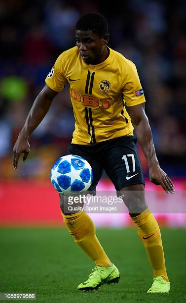 Roger Assale of Young Boys in action during the Group H match of the UEFA Champions League between Valencia and BSC Young Boys at Estadio Mestalla on...