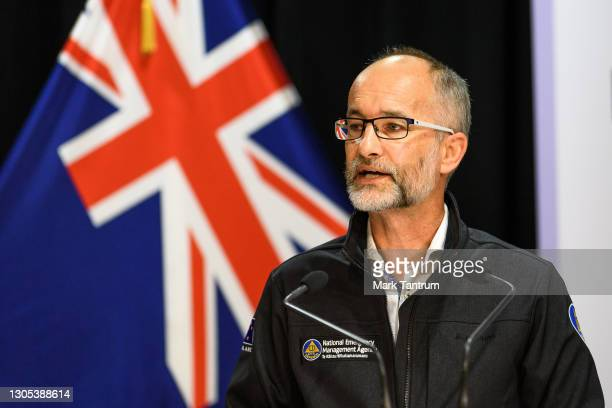 Roger Ball Manager National Operations at National Emergency Management Agency on March 05, 2021 in Wellington, New Zealand. Tsunami warnings are in...