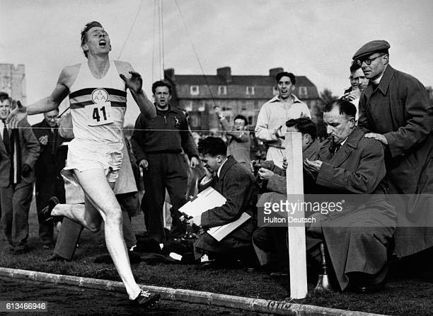 Roger Bannister runs a mile in 4 minutes and 48 seconds