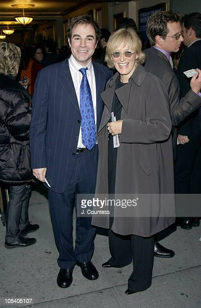 Roger Bart and Glenn Close during Opening Night of Jumpers Arrivals at Brooks Atkinson Theater in New York City New York United States