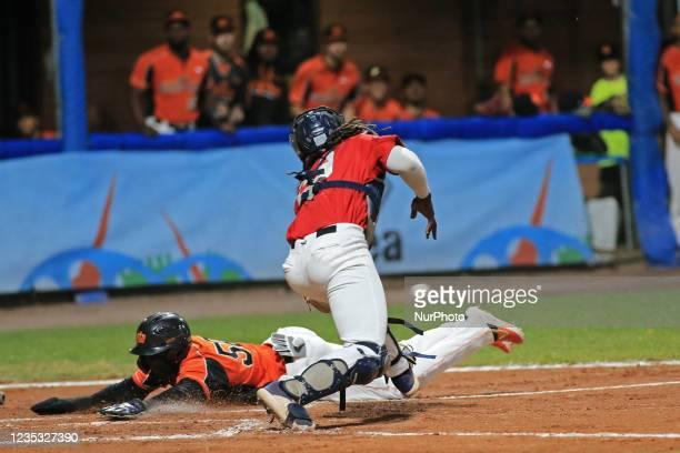 Roger Bernadina scores a point during the Baseball match Baseball European Championship 2021 - Quarter finals - Netherlands vs Great Britain on...