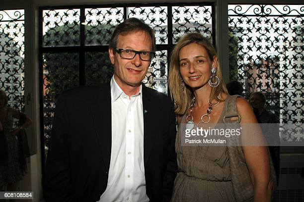 Roger Bevan and Candida Gertler attend R I Group Hosts A Private Cocktail Party For Barney/Bueys at The Peggy Guggenheim Collection on June 5 2007 in...