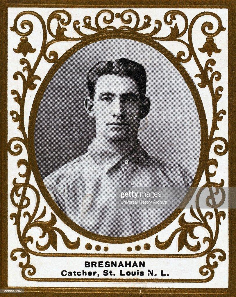 Roger Bresnahan, St  Louis Cardinals, baseball card portrait