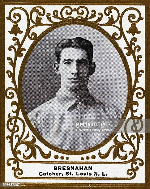 Roger Bresnahan St Louis Cardinals baseball card portrait Card set Ramly Cigarettes Issued by American Tobacco Company