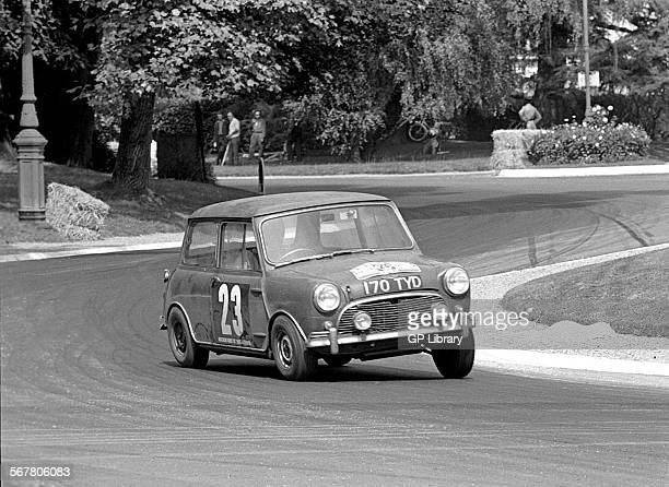 Roger CazesLaurent Idrac's Mini Cooper in the Touring Car Class racing on the circuit section through the Parc Beaumont Tour de France Automobile...
