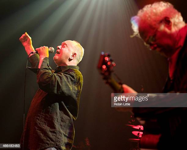 Roger Chapman and Jim Cregan of Family perform on stage at Shepherds Bush Empire on February 1 2014 in London United Kingdom