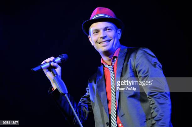 Roger Cicero performs on stage at the LanxessArena on January 16 2010 in Cologne Germany