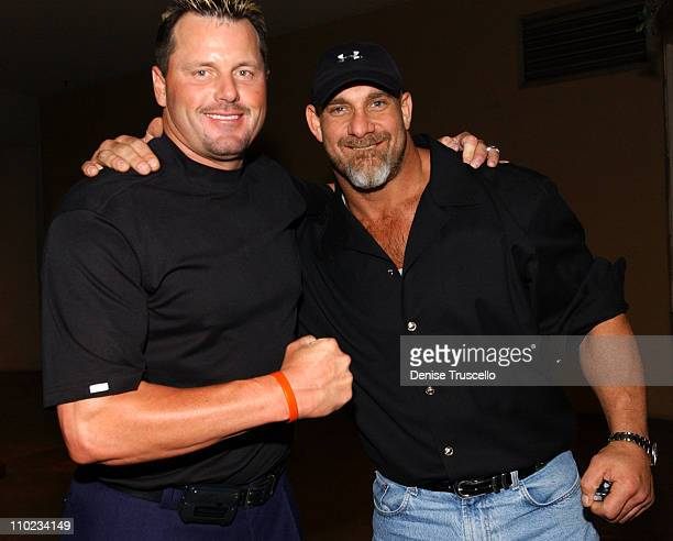 Roger Clemens and Bill Goldberg during Tito Ortiz Official Ultimate Fighting After Party at Curve Nightclub In The Aladdin Hotel and Casino Resort in...
