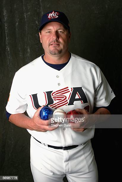 Roger Clemens of Team USA poses for a photo on March 3 2006 at Chase Field in Phoenix Arizona Team USA will be competing in the upcoming World...
