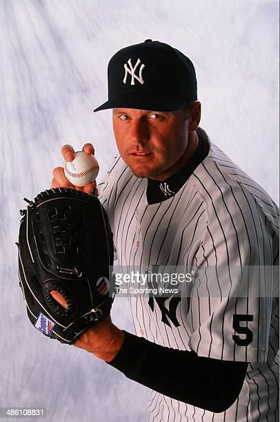 Roger Clemens of the New York Yankees poses for a portrait during spring training on March 9 1999
