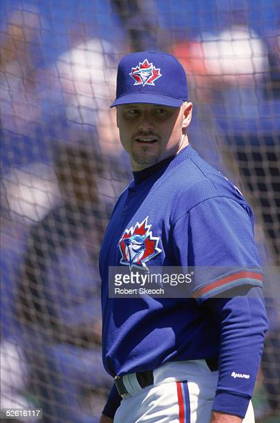 Roger Clemens of the Toronto Blue Jays poses for a 1998 season portrait. Roger Clemens played for the Toronto Blue Jays from 1997-1998.