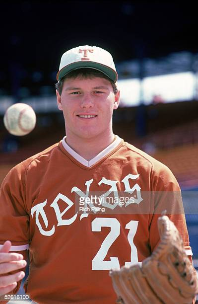 Roger Clemens of the University of Texas poses for a season portrait Roger Clemens played for the University of Texas from 19821983