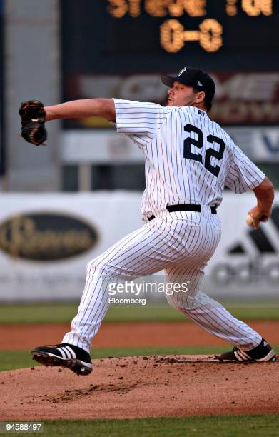 Roger Clemens seventime Cy Young Award winner pitches for the ClassA Tampa Yankees against the Fort Myers Miracle the Minnesota Twins ClassA team at...