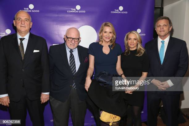 Roger Cohen Ed Rollins Patricia Duff Dana Perino and Douglas Brinkley attend 'Trump Year One' Presidential Panel on January 17 2018 in New York City