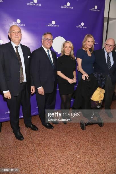 Roger Cohen Joe Paolino Dana Perino Patricia Duff Ed Rollins attend Trump Year One Presidential Panel on January 17 2018 in New York City