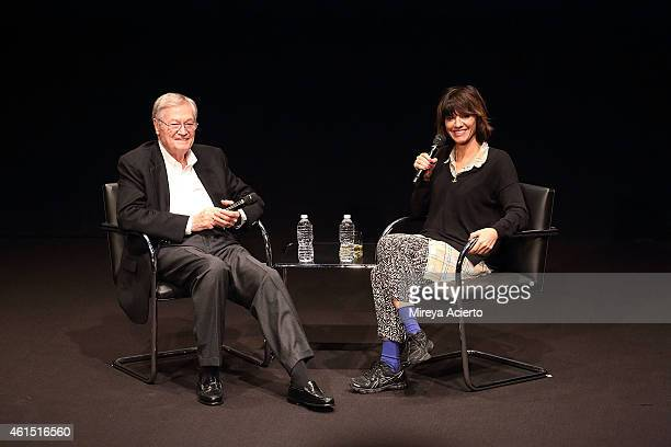Roger Corman and Ana Lily Amirpour attend The Contenders at The Hammer Museum Los Angeles Screening and QA of A Girl Walks Home Alone at Night at...