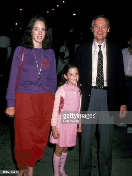 Roger Corman and family during Performance of Little Shop of Horror September 2 1982 at Orpheum Theatre in New York City New York United States