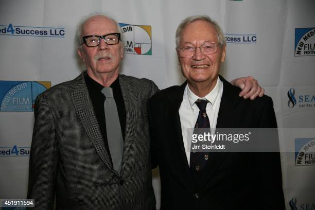 Roger Corman film producer director and actor with director John Carpenter at the New Media Film Festival at the Landmark Theatre in Los Angeles...