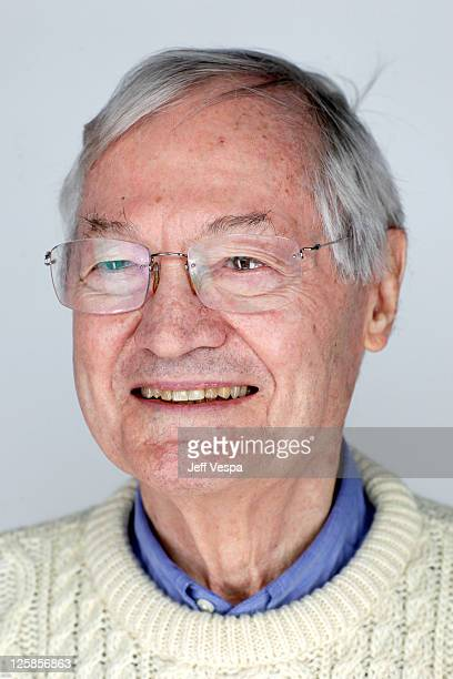 Roger Corman poses for a portrait during the 2011 Sundance Film Festival at the WireImage Portrait Studio at The Samsung Galaxy Tab Lift on January...