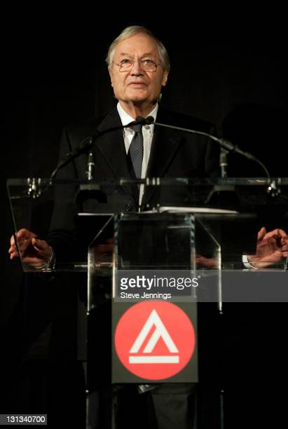 Roger Corman speaks to the audience at the Academy of Art University 5th Annual Epidemic Film Festival at Golden Gate Theatre on May 6 2011 in San...