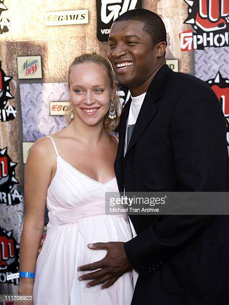 Roger Cross and Josephine Jacob during G-Phoria 2005 -The Mother of All Videogame Award Shows - Arrivals at Los Angeles Center Studios in Los...