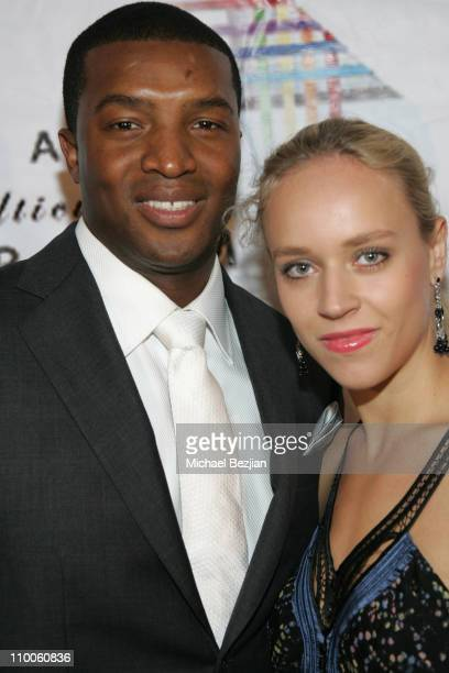 Roger Cross and Josephine Jacob during The 11th Annual Multicultural PRISM Awards at Sheraton Universal in Los Angeles, California, United States.
