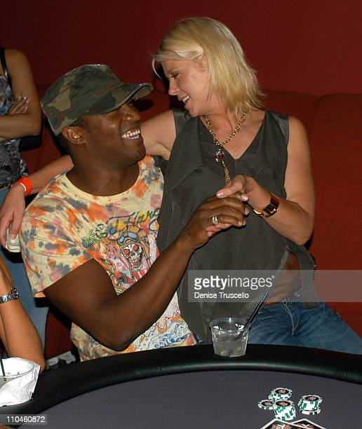 Roger Cross and Tara Reid during Full Tilt Poker House 'After Dark' Party and Tournement at Pure Nightclub at Caesars Palace Hotel and Casino Resort...