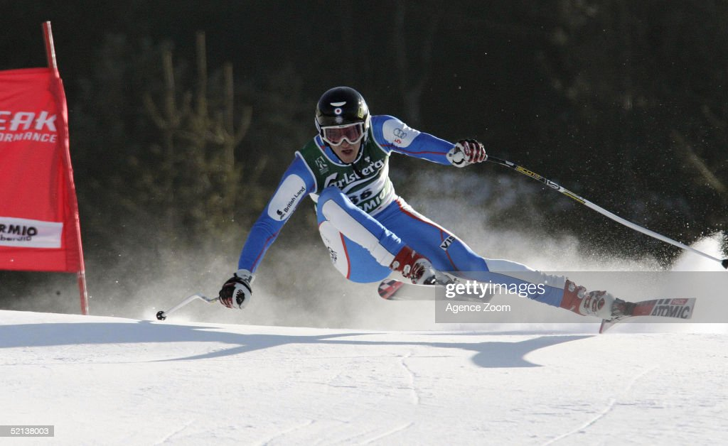 Roger Cruickshank of Great Britain competes in the Men's Downhill at the FIS Alpine World Ski Championships 2005 on February 5, 2005 in Bormio, Italy.