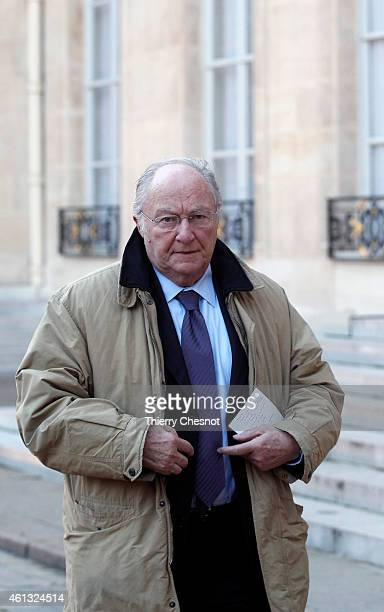Roger Cukierman President of the CRIF arrives at the Elysee Palace for a meeting between France's Jewish associations and the French President on...