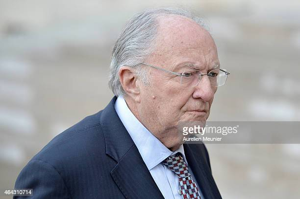 Roger Cukierman President of the CRIF Representative Council of French Jewish Institutions arrives for a meeting with French President Francois...