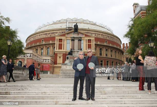 Roger Daltrey and Eric Clapton attend the launch of the Royal Albert Hall 'Walk Of Fame' at Royal Albert Hall on September 4 2018 in London England