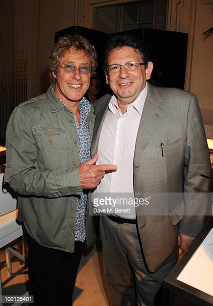 Roger Daltrey and Lucian Grainge attend the Lucian Grainge VIP Party on June 15 2010 in London England