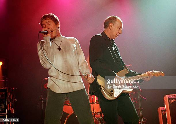 Roger Daltrey and Pete Townsend of The Who performing on stage at Wembley Arena in London on the 13th November 2000