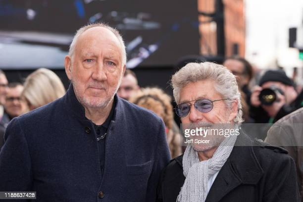 Roger Daltrey and Pete Townshend from The Who attend the Music Walk Of Fame Founding Stone Unveiling at The Jazz Cafe on November 19 2019 in London...