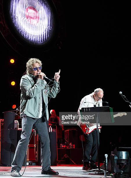Roger Daltrey and Pete Townshend from The Who perform at Palais Omnisports de Bercy on July 3 2013 in Paris France