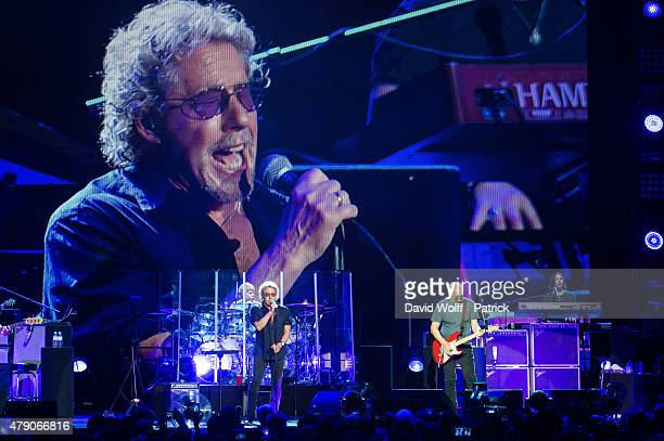Roger Daltrey and Pete Townshend from The Who perform at Zenith de Paris on June 30, 2015 in Paris, France.