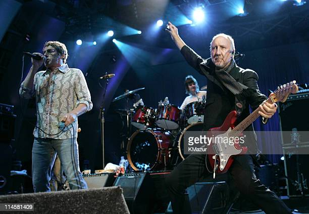 Roger Daltrey and Pete Townshend of The Who during The Who Live at the Hollywood Bowl August 9 2004 at Hollywood Bowl in Hollwood California United...